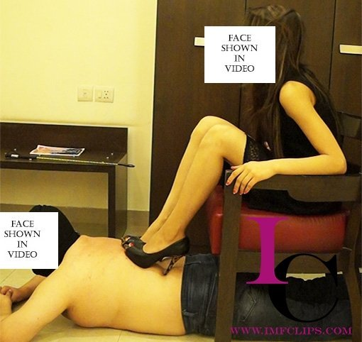 Sharp Heel Scratching and Trampling By Mistress Meow1