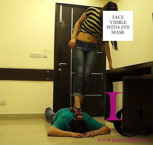 Mistress Dancing On Slave